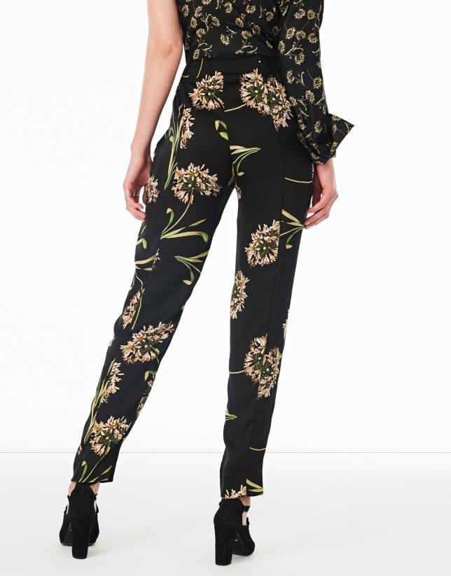 Pantalon fluide imprimé floral