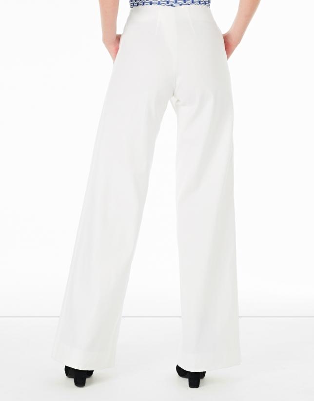 Falda pantalón blanca