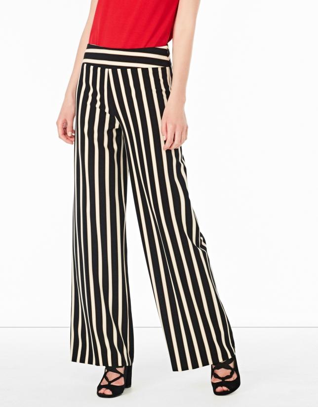 Striped palazzo pants