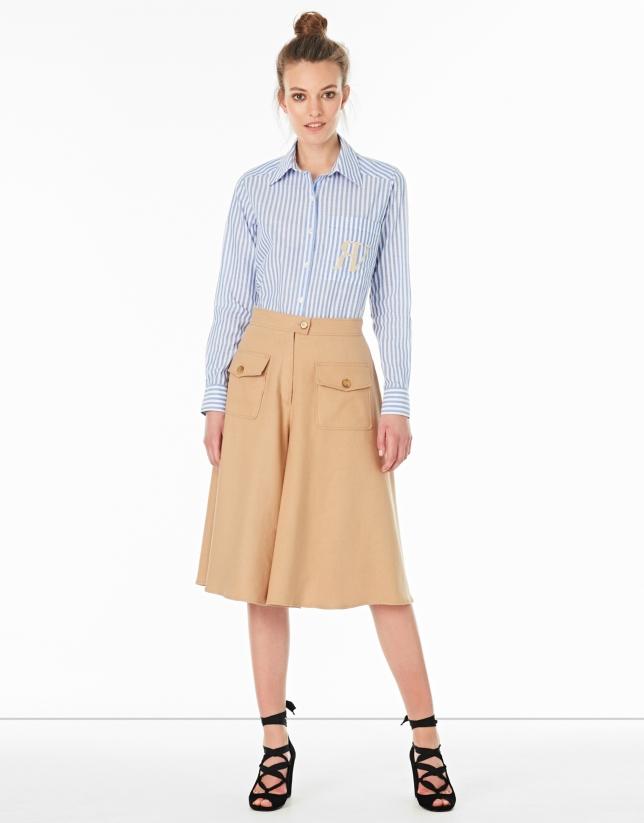Jupe-pantalon noisette