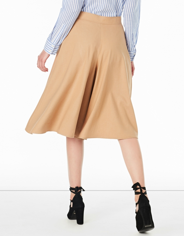 Falda pantalón avellana