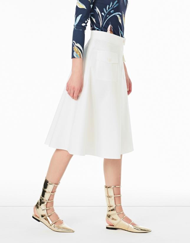 Falda pantalón crudo