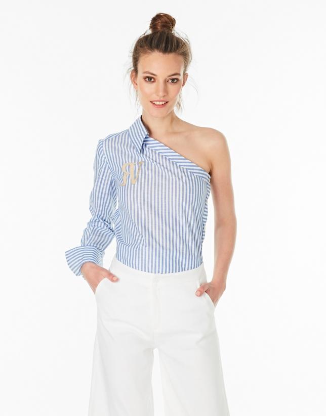 Camisa asimétrica rayas