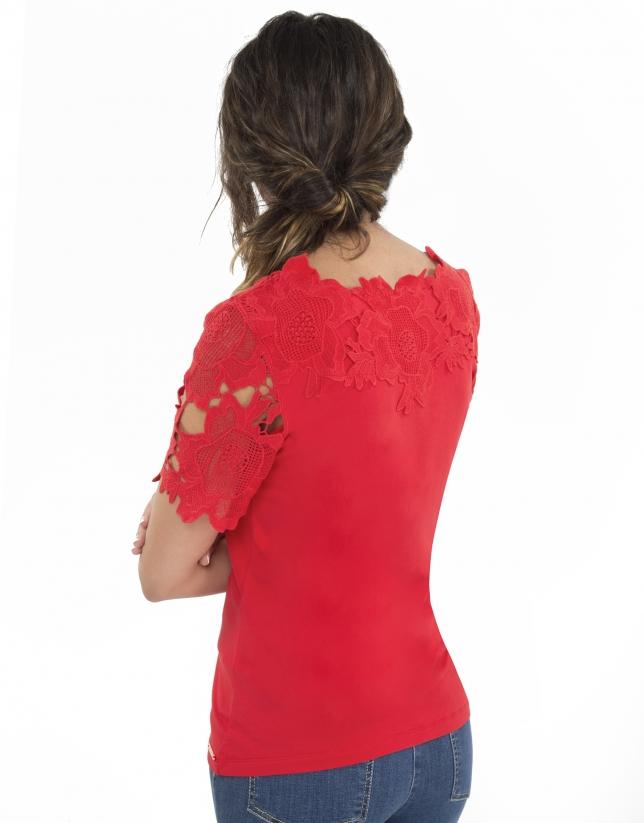 Camiseta encaje azalea