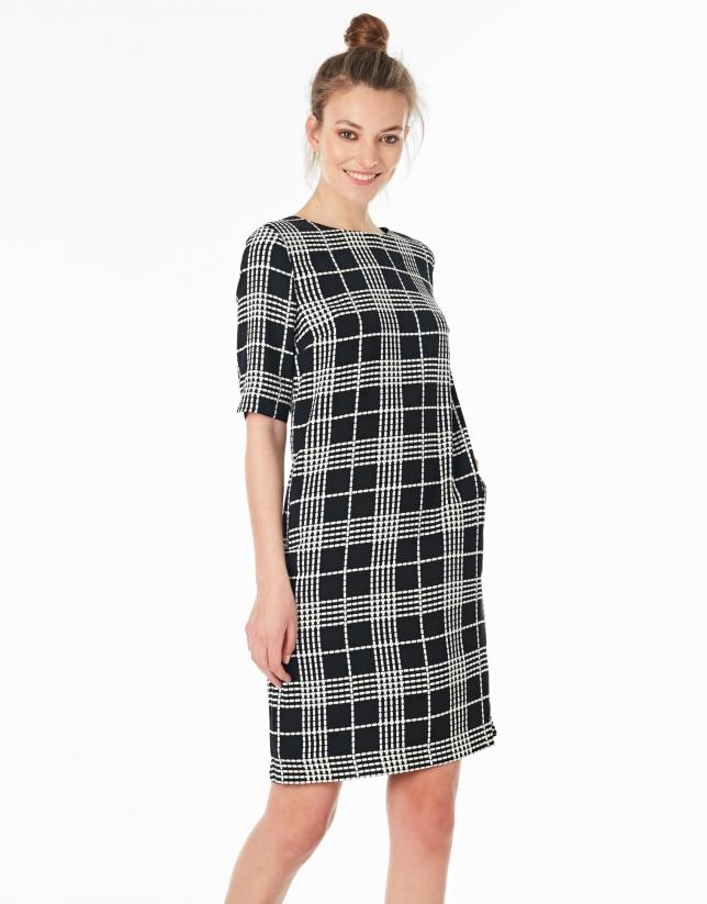 Black checked dress