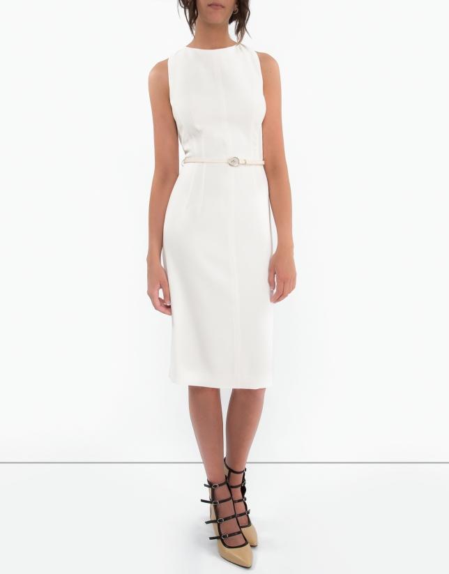 White backstitched dress