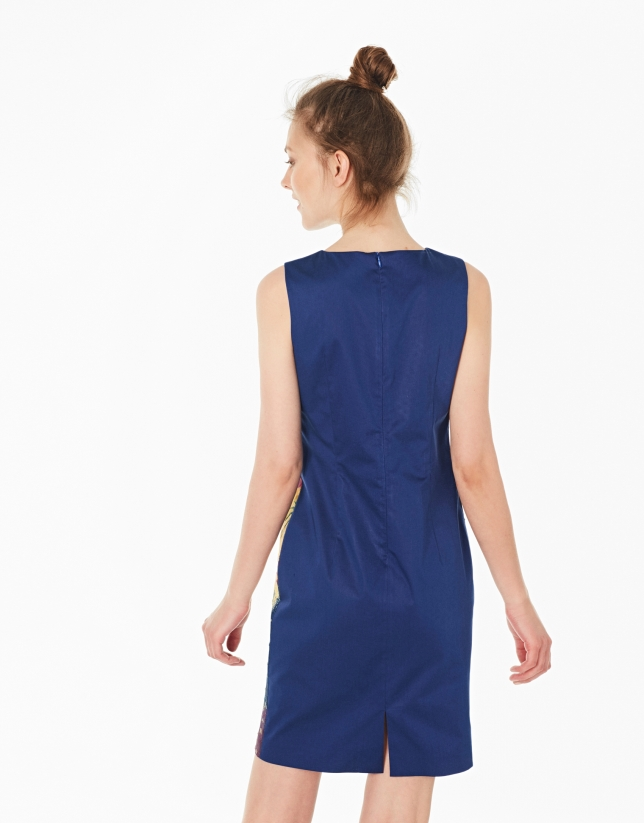 Robe imprimée fantaisie bleu