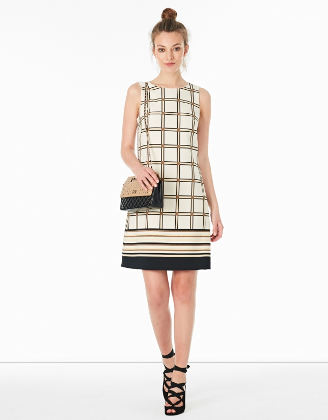 A-line checked dress