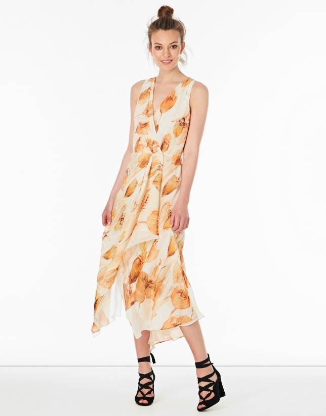 Amber silk dress