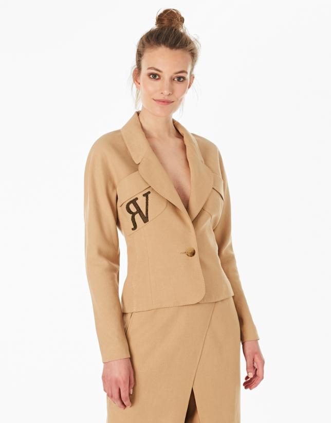 Hazelnut short jacket