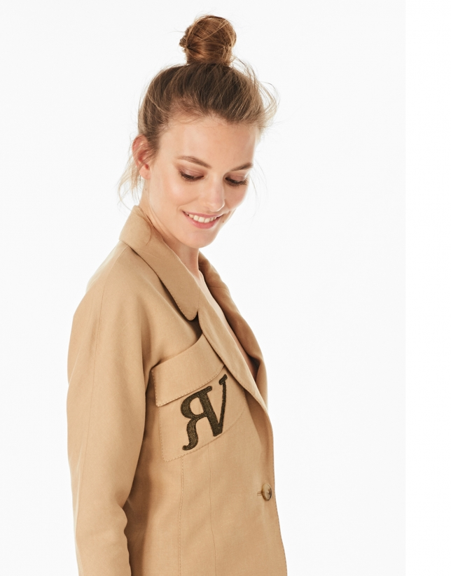 Hazelnut short jacket