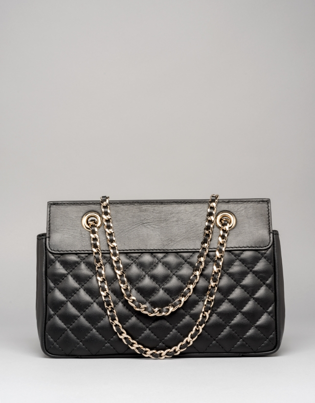 Black Ghauri bag with metallic appliqué