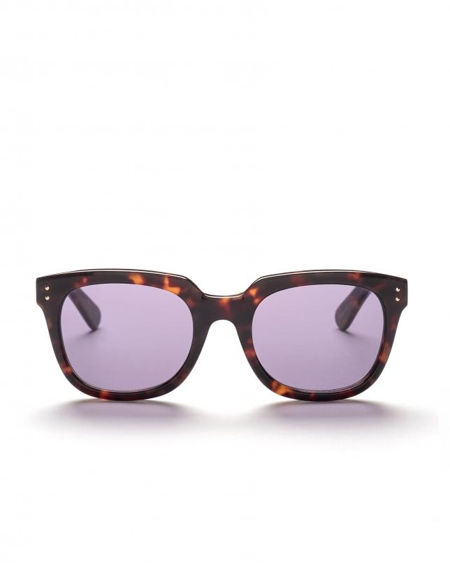 Gafas de sol pasta marrón tortuga cuadradas