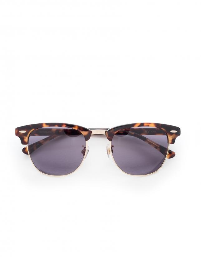 Gafas de sol retro marrón tortuga