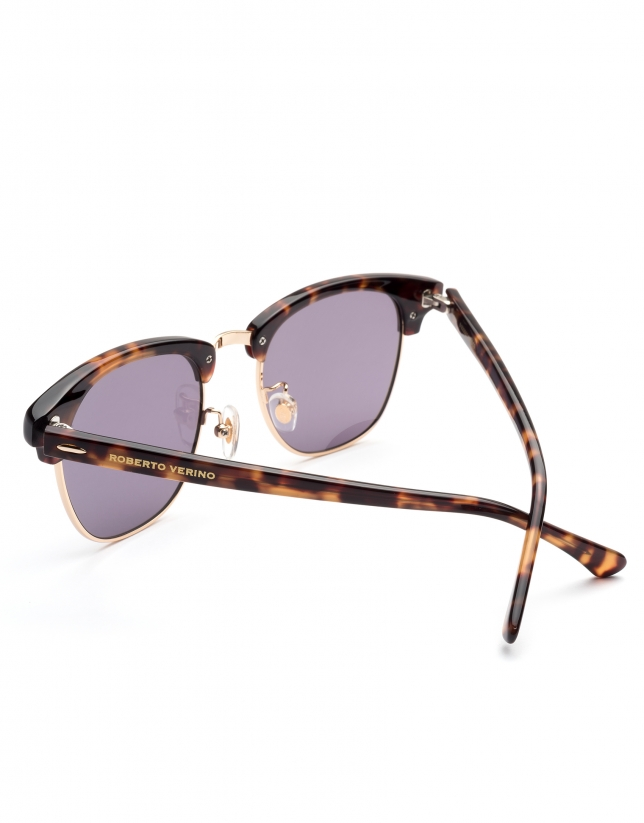 Brown tortoise Retro sunglasses