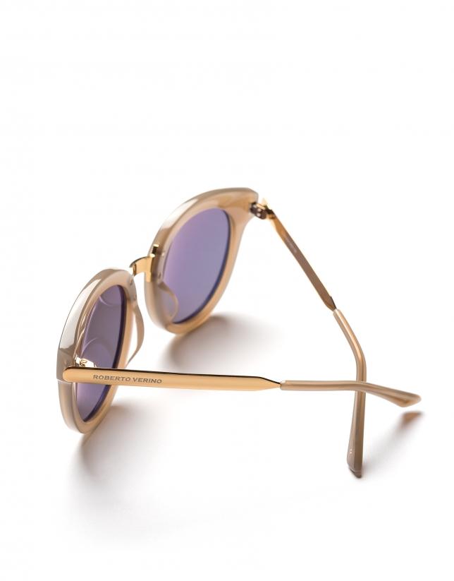 Gafas de sol ojos de gato gris