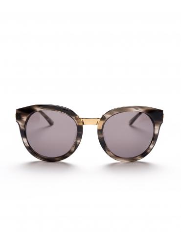 Gray marbled cat's eye sunglasses