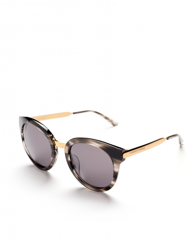 Gray marbled cat's eye sunglasses