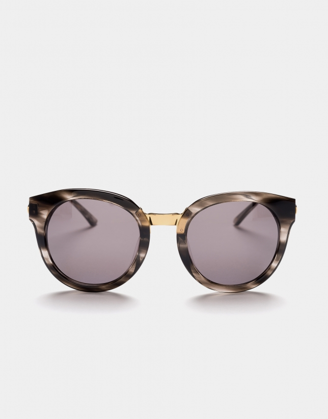 Gafas de sol ojos de gato gris jaspeado