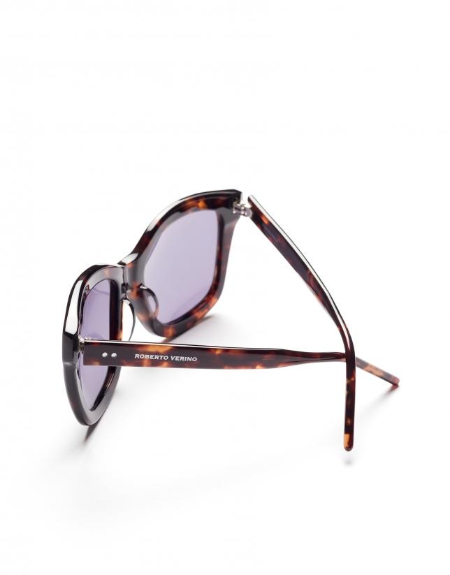 Gafas de sol grandes marrón tortuga