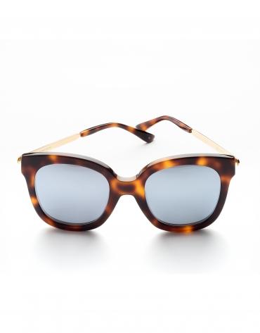 Gafas de sol pasta y metal marrón tortuga