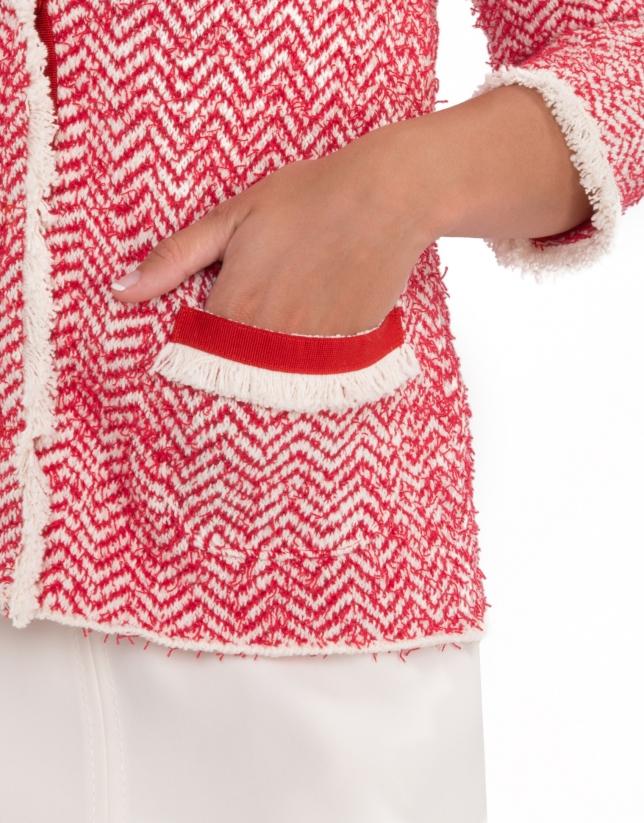 Azalea knit jacket with fringe