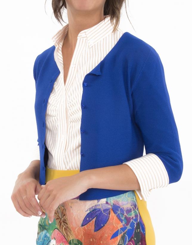 Cobalt blue short jacket