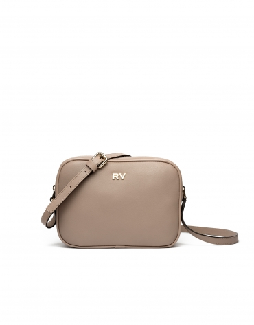 Taupe Taylor leather shoulder bag