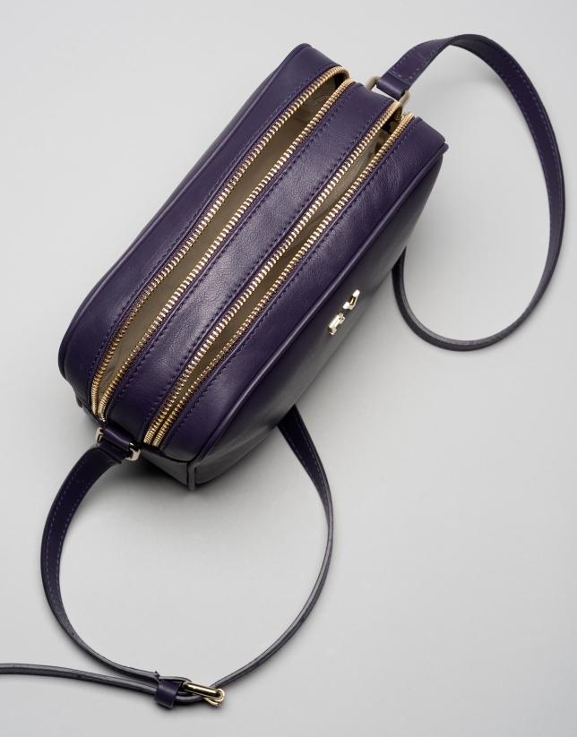 Dark violet Taylor leather shoulder bag