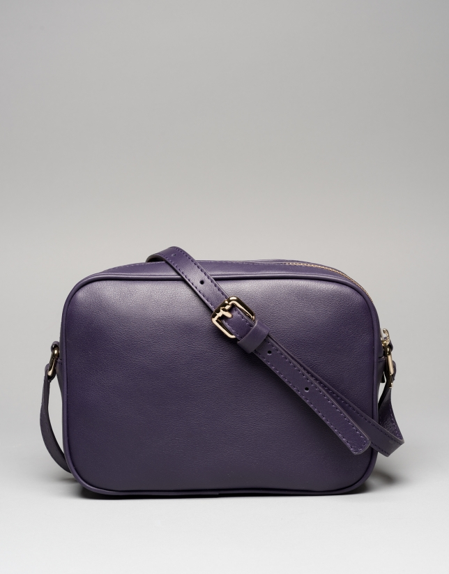Bolso bandolera piel violeta oscuro Taylor