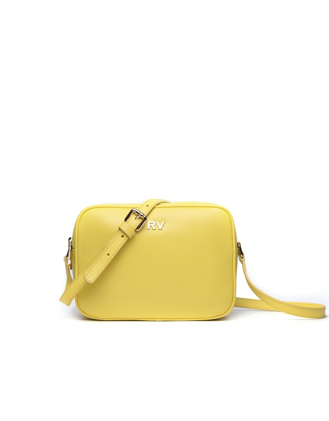 Bolso bandolera piel amarilla Taylor Citrus