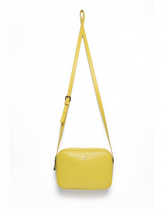 Yellow Taylor leather shoulder bag