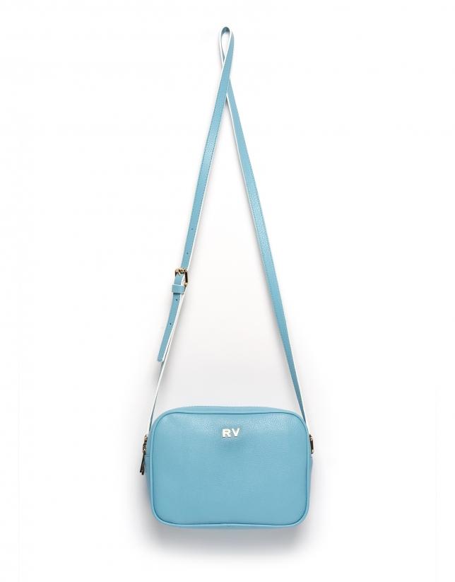 Sky blue Taylor leather shoulder bag