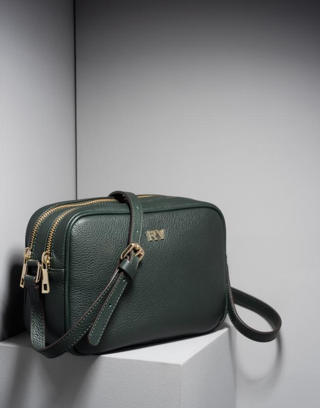 Verino Bolso verde bandolera oscuro Taylor piel Roberto xW6xf