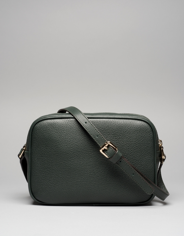 Dark green Taylor leather shoulder bag