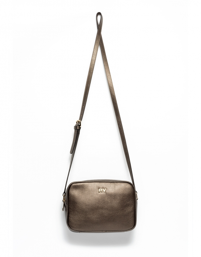 Dark gold Taylor leather shoulder bag