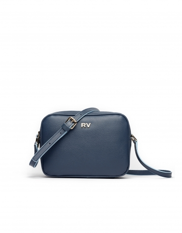 Navy blue Taylor leather shoulder bag