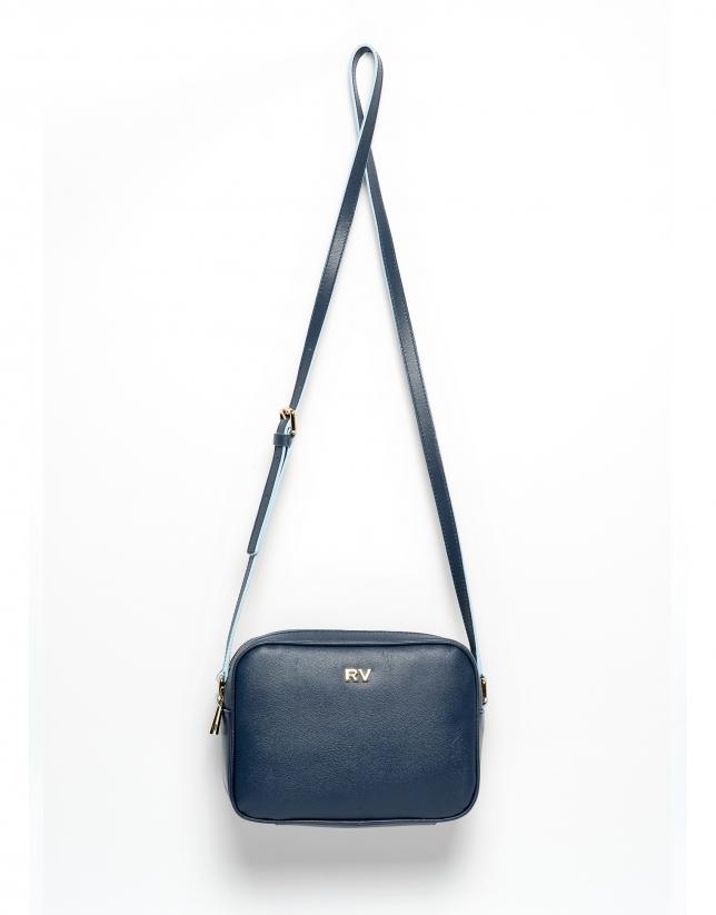 Navy blue Taylor leather shoulder bag