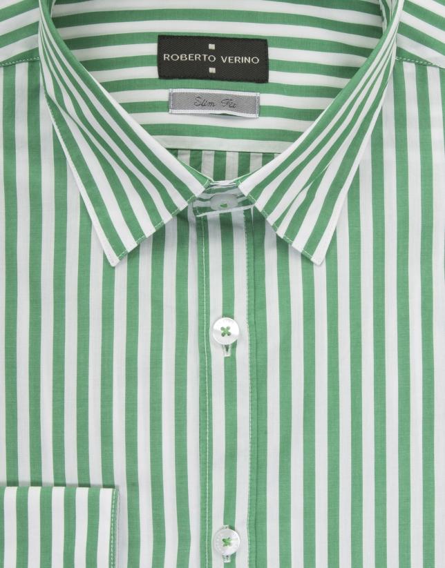 Camisa rayas verdes y blancas