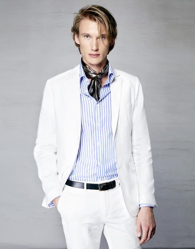 Camisa rayas azul y blanco