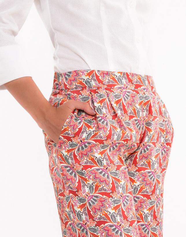 Azalea print palazzo pants