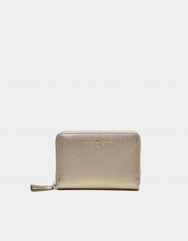 Chiaro gold Saffiano leather mili billfold