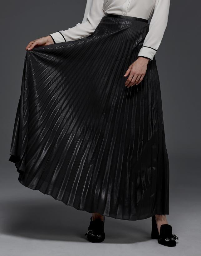 Falda larga plisada fiesta