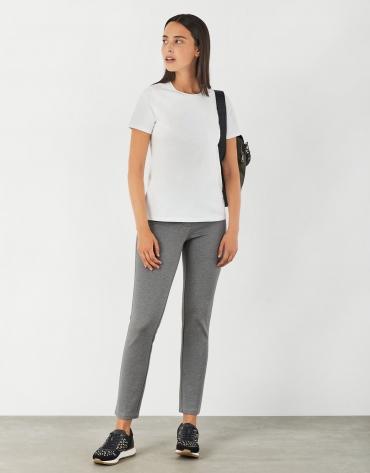 Pantalon à cinq poches gris marengo