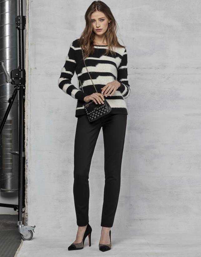 Pantalon à cinq poches noir