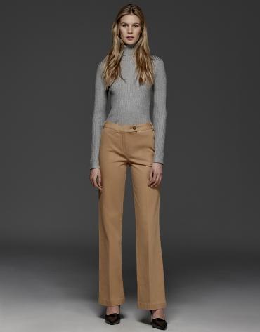Camel straight pants