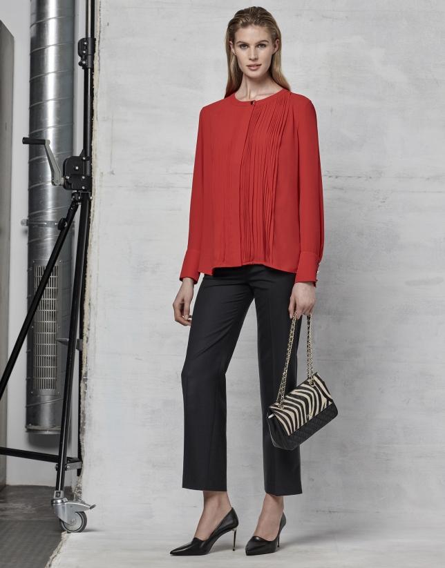 Blusa jaretas roja