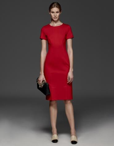 Short-sleeved red dress