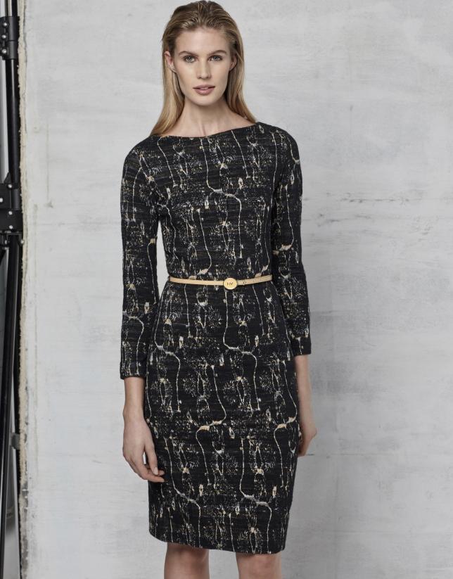Jacquard stretch fabric dress