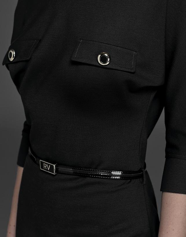 Robe noire à manches japonaises